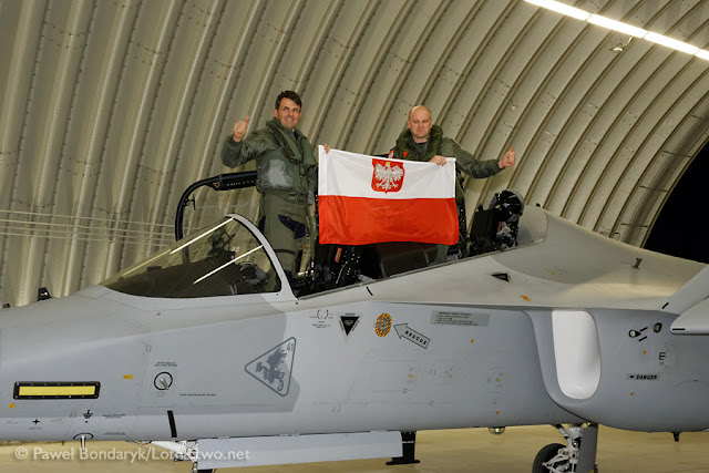 THE M-346 'BIELIK' ARRIVED IN POLAND