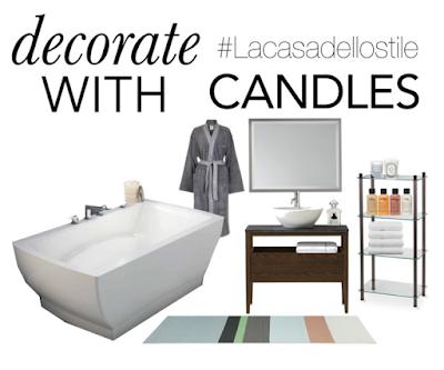 Decorare con le candele la casa dello stile - Decorare casa con candele ...