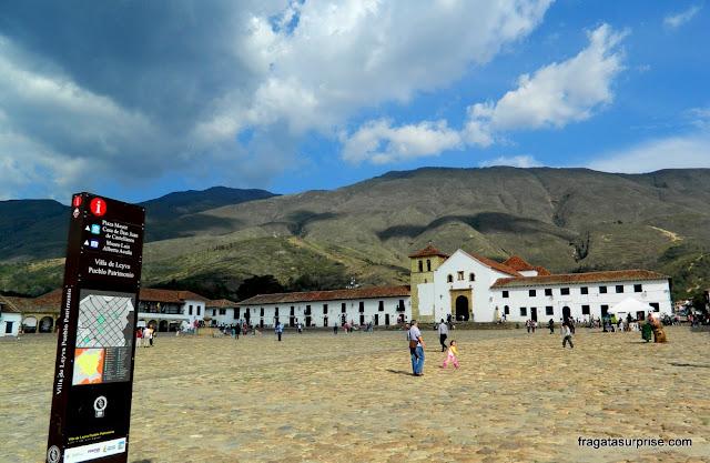 Plaza Mayor de Villa de Leyva, Colômbia