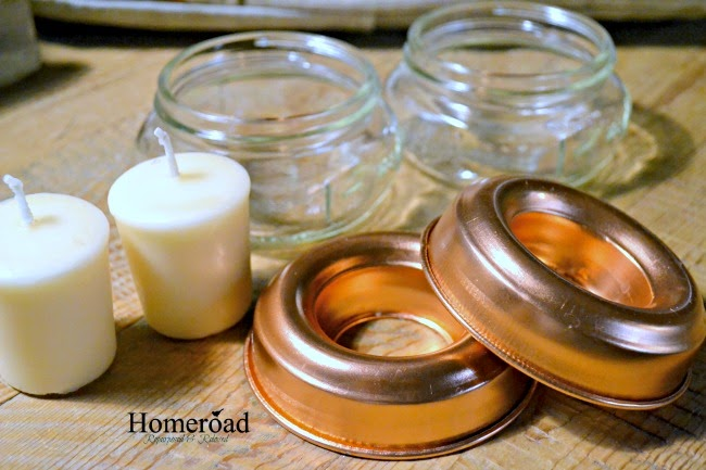 supplies needed Mason Jar Votive Candle Holder  www.homeroad.net