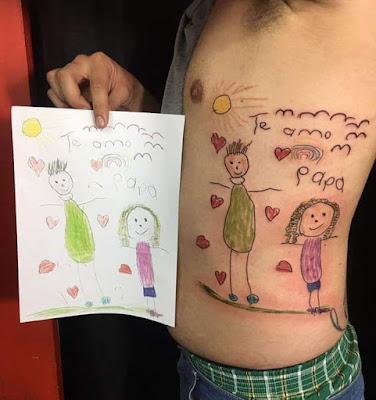 Tatuaje dibujo de niño