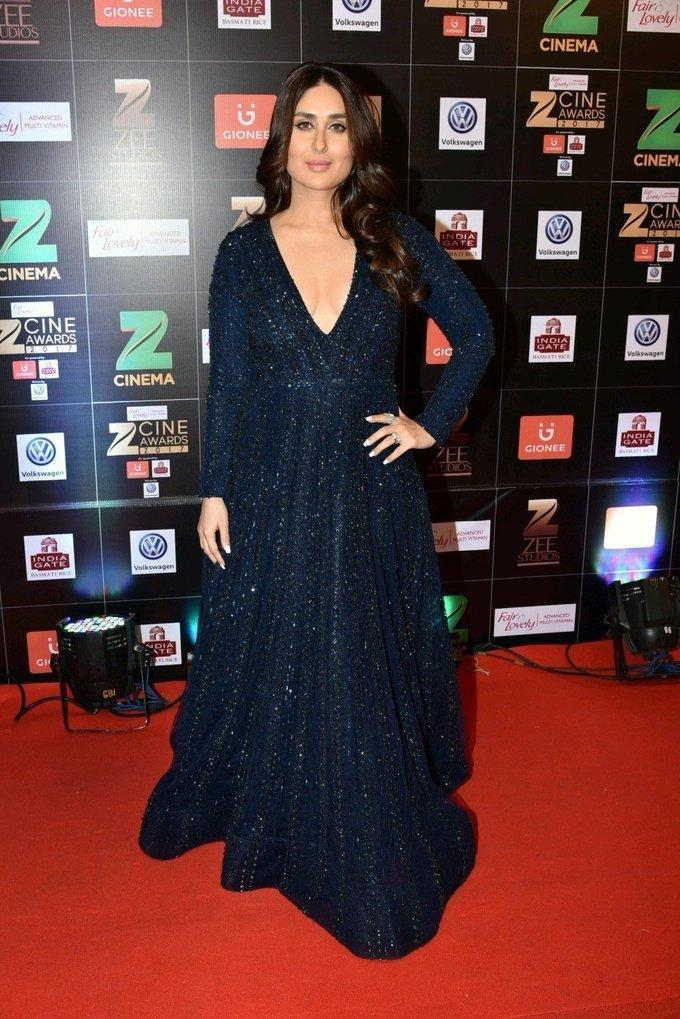 Indian Actress Kareena Kapoor At Zee Cine Awards 2017