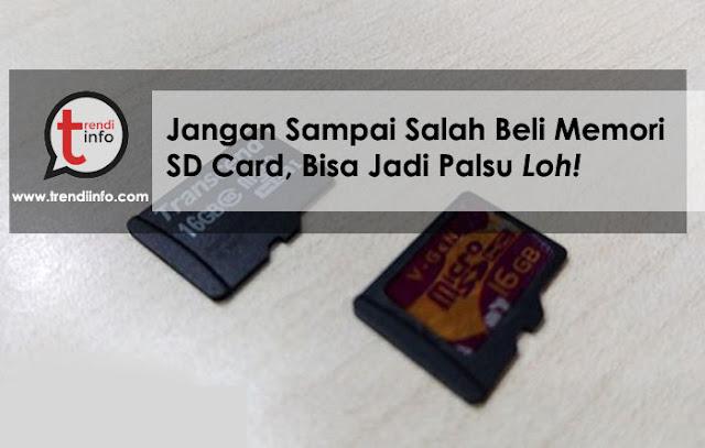 cara membedakan sd card asli atau palsu