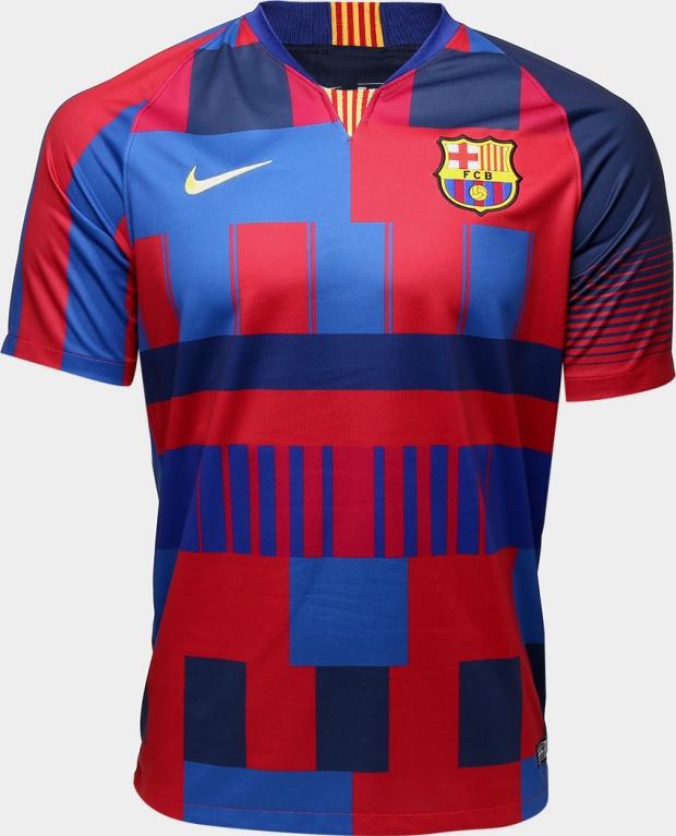 c11cf74c39 Nike lança camisa comemorativa aos 20 anos de patrocínio do Barcelona -  Show de Camisas