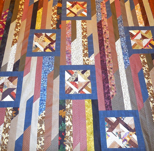 Odd Block Strip Quilt Free Tutorial designed by Melanie Rudy of Quilters...Enjoy Color!