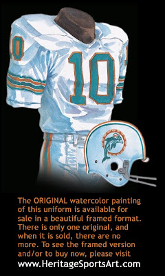 Miami Dolphins 1969 uniform