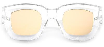 zeroUV Horn Rimmed Flat Lens Clear Frame Sunglasses