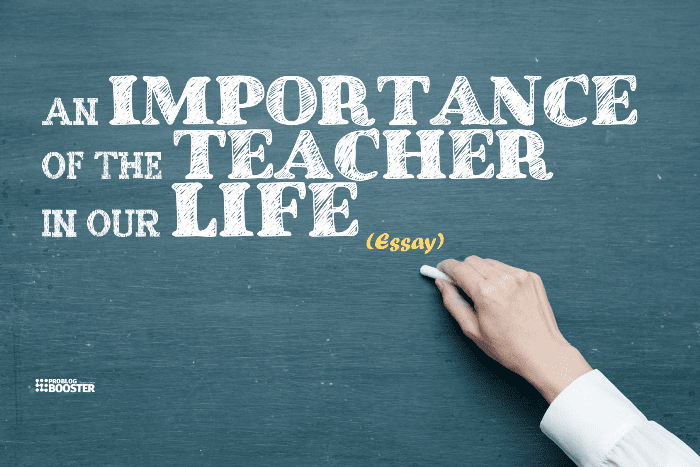 Importance of teacher essay