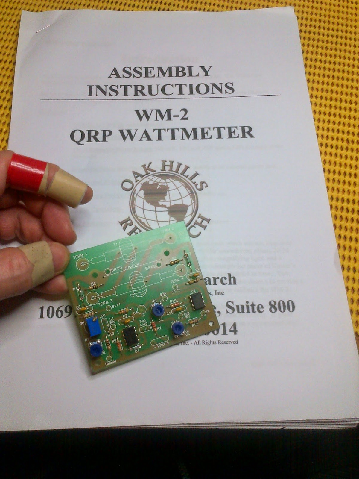 2E0MTT Ham Radio: Oak Hills Research OHR WM-2 Watt meter