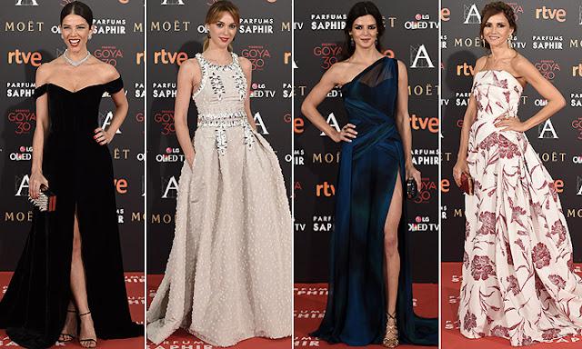 Goya 2016 estilismos red carpet