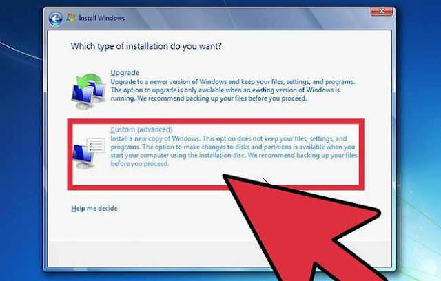 Cara Instal Windows 7 dengan CD dan Flashdisk Beserta Gambarnya
