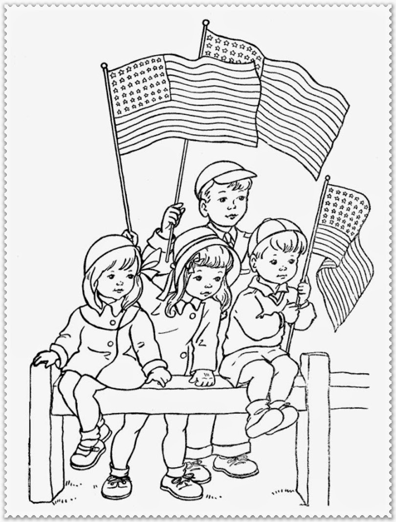 veterans day coloring pages kids