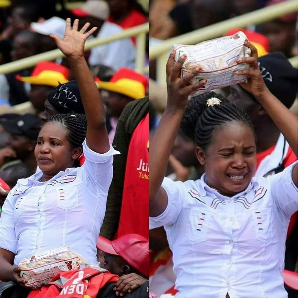 hehe%2B1 - Do you remember this Jubilee lady during campaigns ?We hope she is not feeling the heat, EH!EH!