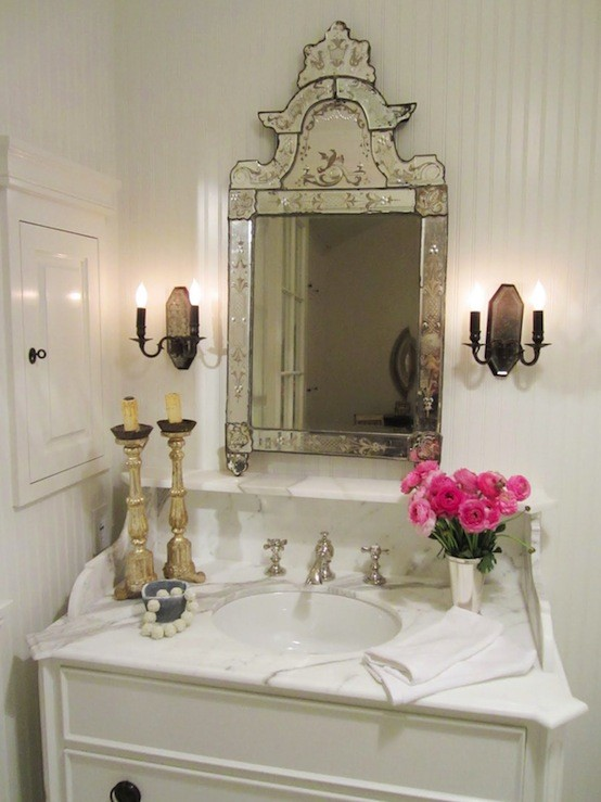 Color Outside The Lines Powder Room Lighting