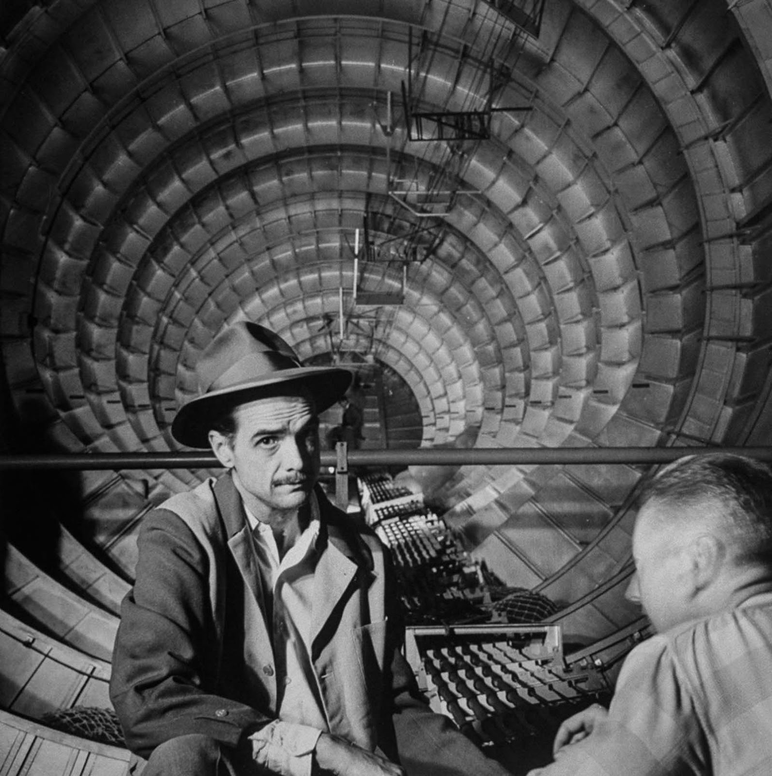 Howard Hughes inside the