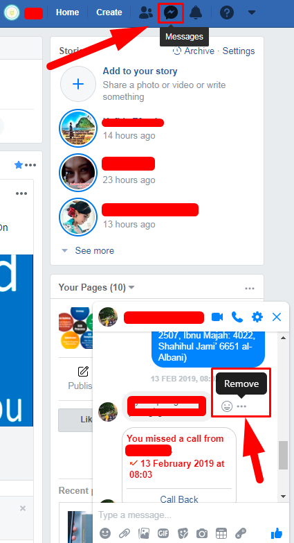 Deleted Messages On Facebook<br/>