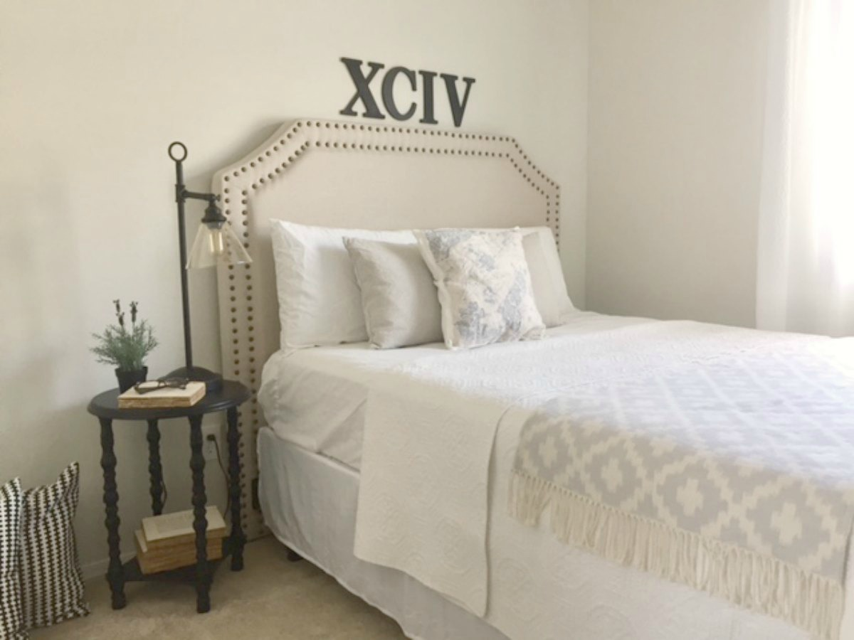 Before and After} DIY Guest Bedroom Decor Makeover Progress ...