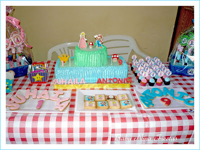 mesa dulce mario bros y princesa peach