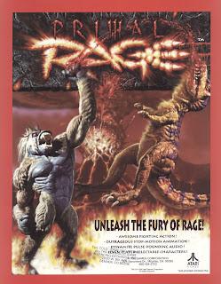 Primal Rage+arcade+game+portable+retro+art+flyer