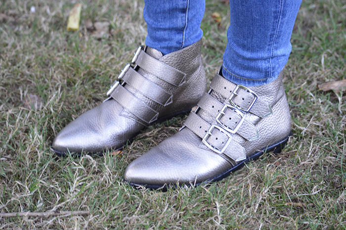 clark metallic boots fashion bloggers