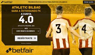 betfair supercuota victoria del Atheltic a Östersunds 2 noviembre