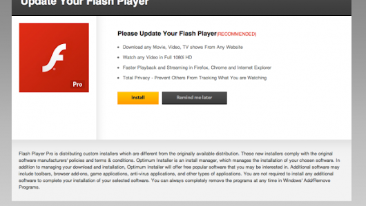 WARNING! Your Flash Player may be out of date.