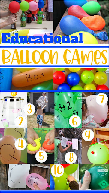 Balloon Games - lots of fun, creative, and unique educational balloon games for summer fun for toddler, preschool, prek, kindergarten, first grade, 2nd grade, 3rd grade (summer activities, summer bucket list)