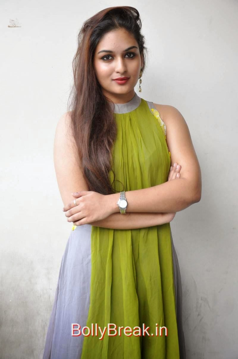 Prayaga Martin Pictures, Actress Prayaga Martin Hot HD Images in Green dress