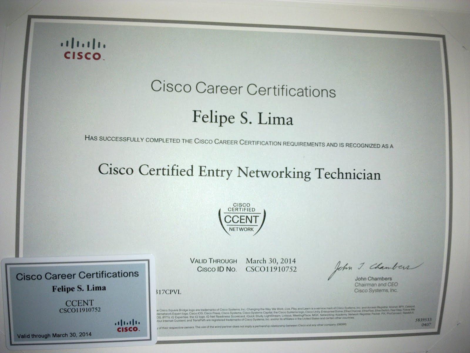 certificate ccent