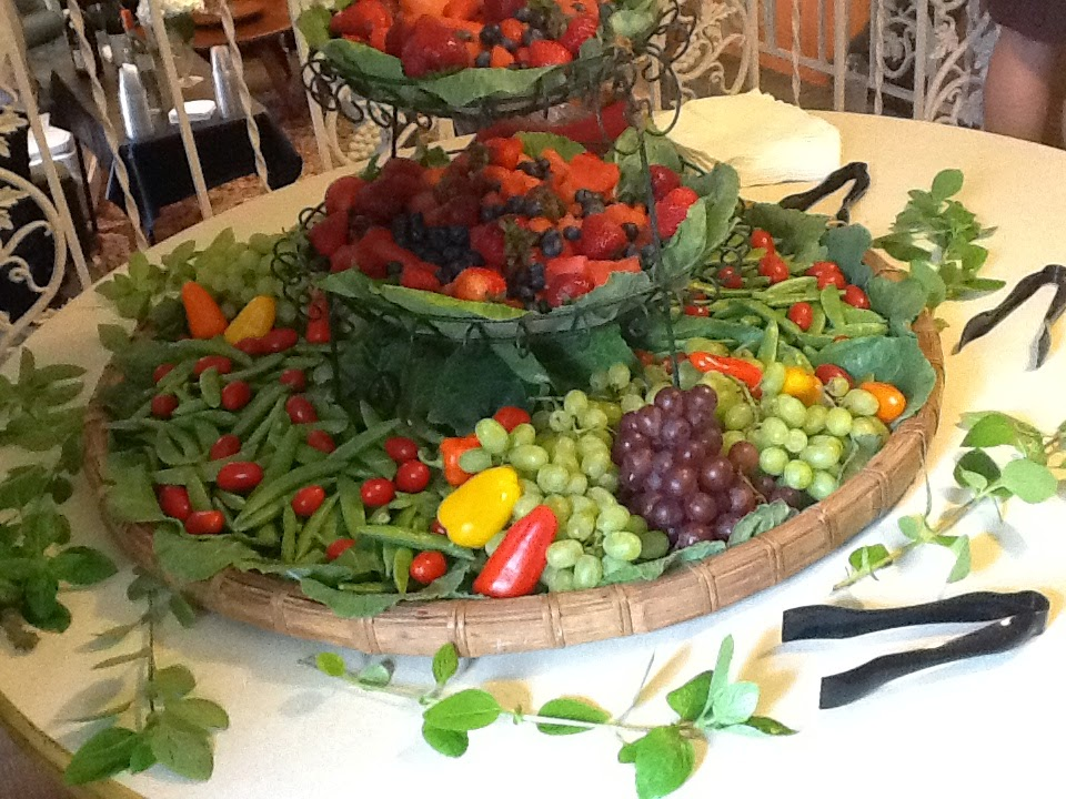 Waterfall Fruit And Veggie Displays: Canopy Rose Catering Company 850-539-7750: Fruit And