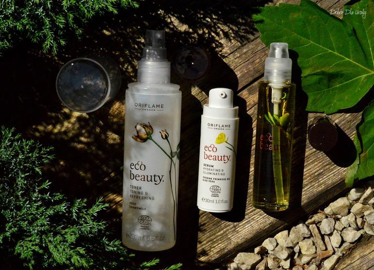 Naturalna pielęgnacja twarzy EcoBeauty Oriflame - tonik, serum i olejek