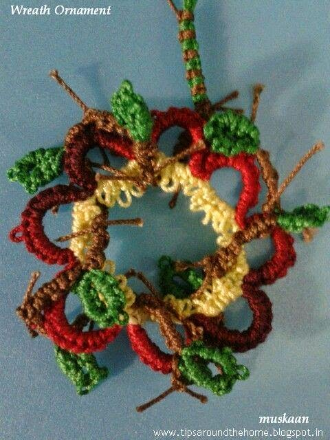 Muskaans Tips Tatting Pattern Wreath Ornament
