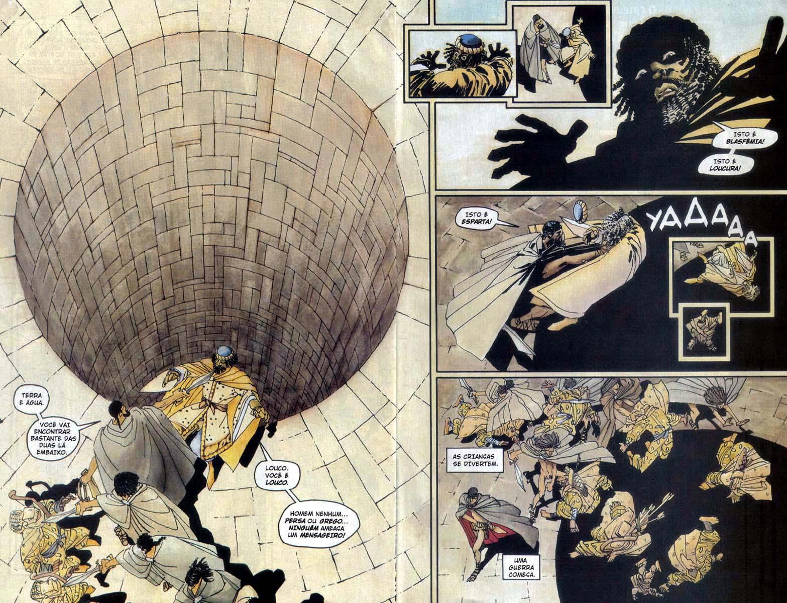 os 300 de esparta em quadrinhos
