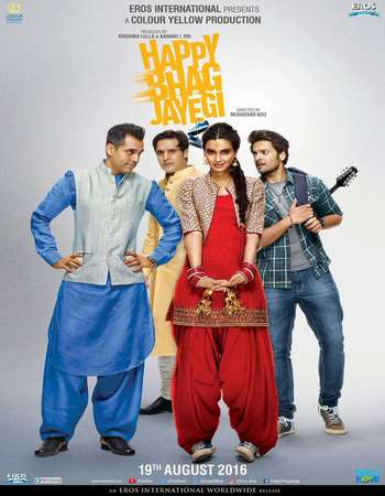 Poster Of Happy Bhaag Jayegi 2016 Hindi 350MB HDRip 480p ESubs Watch Online Free Download downloadhub.net