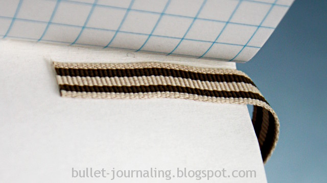 Photo: Bullet journaling tips - attach a ribbon