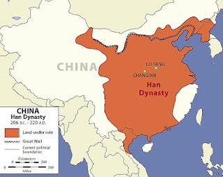 Peta Wilayah Dinasti Han