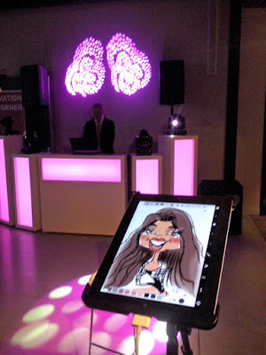 Ipad karikatuur tekening iPad set-up show