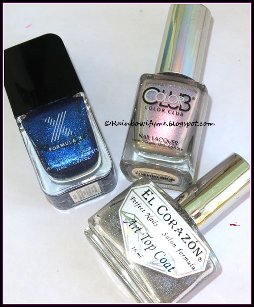 Sephora Formula X: Beacon; Color Club: What's Your Sign; El Corazón: 421h/25