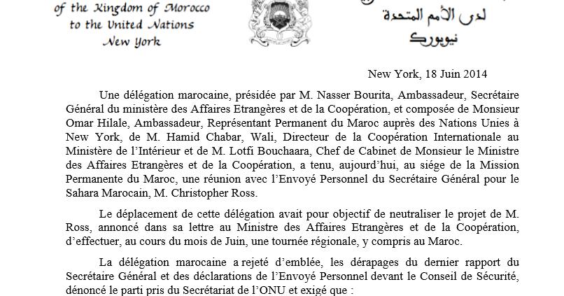 Solidarit maroc archives maroc wikileaks - Cabinet du ministre des affaires etrangeres ...