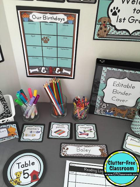 Dog Themed Classroom - Ideas & Printable Classroom ...