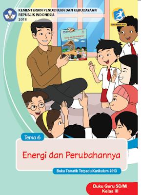 gambar buku tematik kelas 3 semester 2 tema 6 edisi revisi 2018