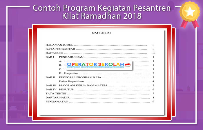 Program Pesantren Kilat Ramadhan 2018