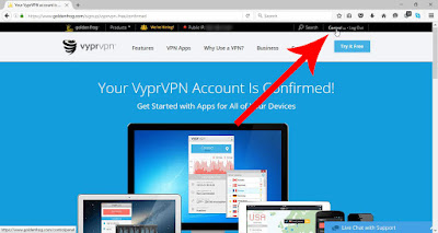 Accessing control panel VyprVPN