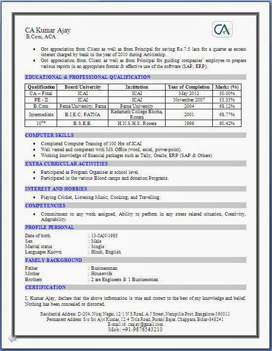 Resume Of Ca How I Prepared My Student Resume For A Career In