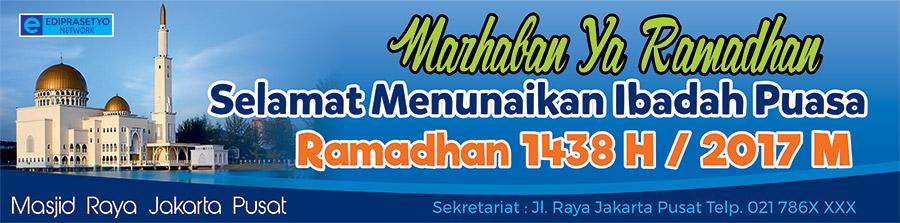 Download Spanduk Ucapan selamat Menunaikan Ibadah Puasa 2017