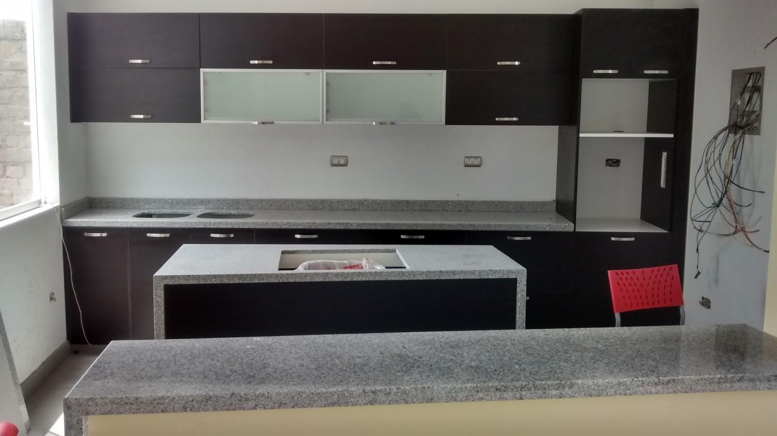 Muebles Cocina En Melamina Vidrio Y Aluminio