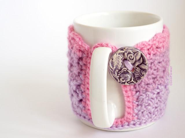 Cozy Mug Couvre tasse crochet par CocoFlower- www.cocoflower.net