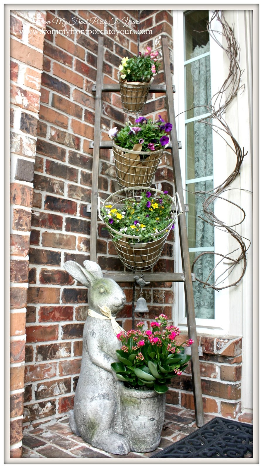 Spring Porch-Design Ingenuity Event- Decor Steals-Wire basket Set-From My Front Porch To Yours