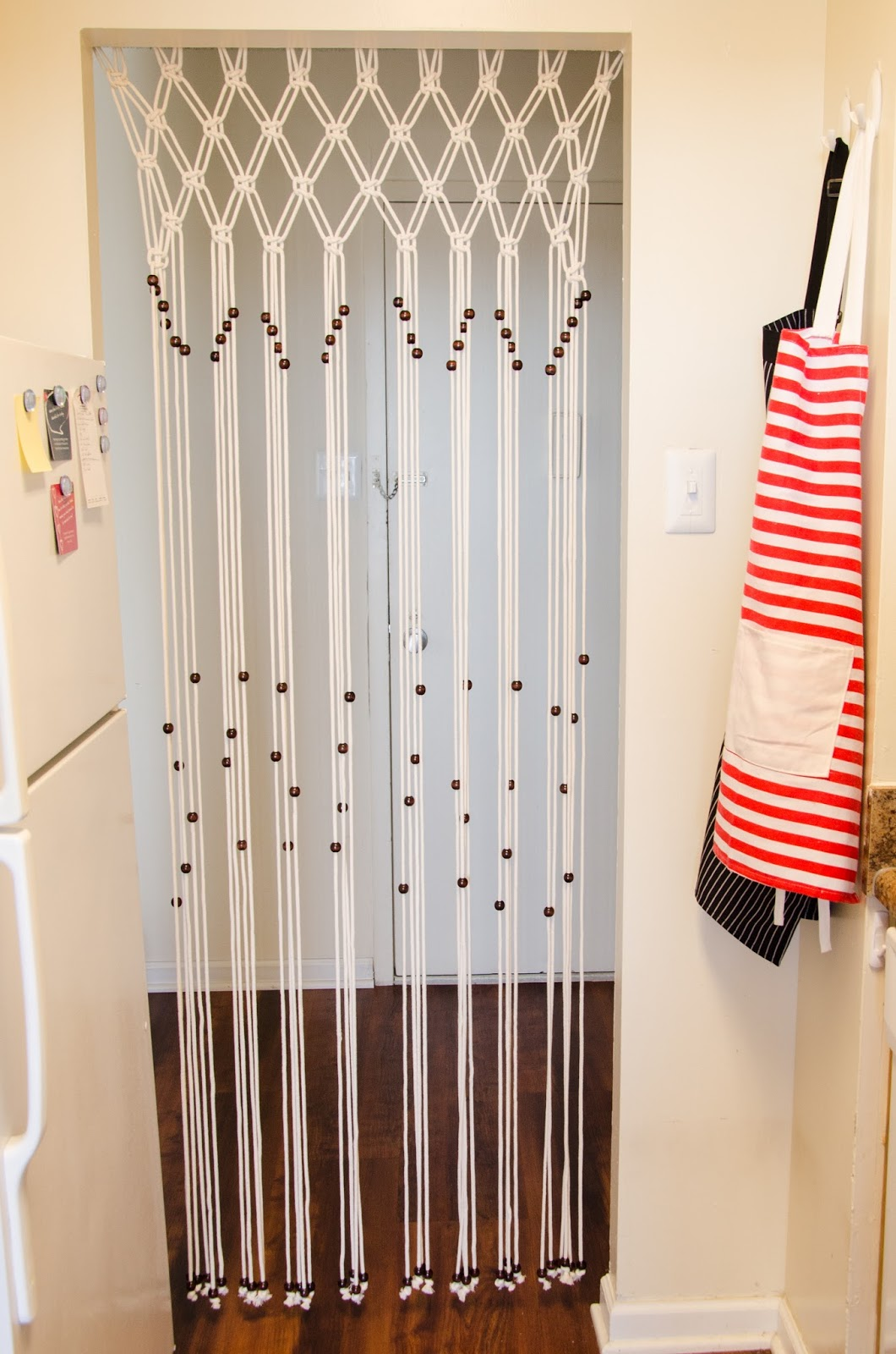 Door bead curtains for kids - Diy Door Macrame Curtain