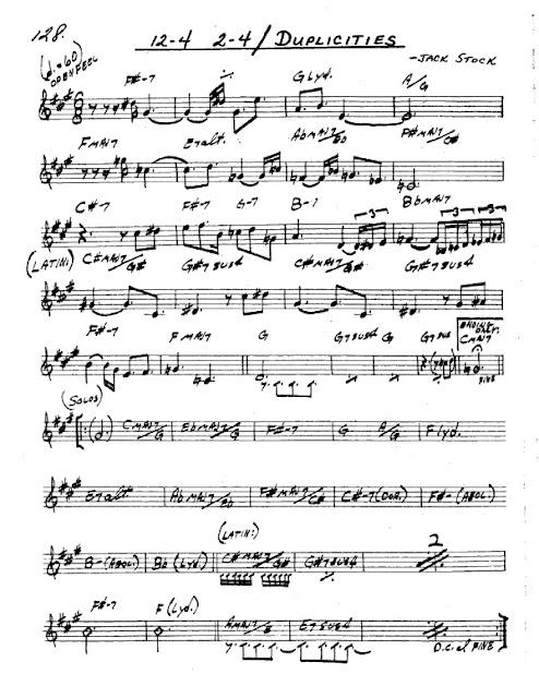 Partitura Saxofón Jack Stock